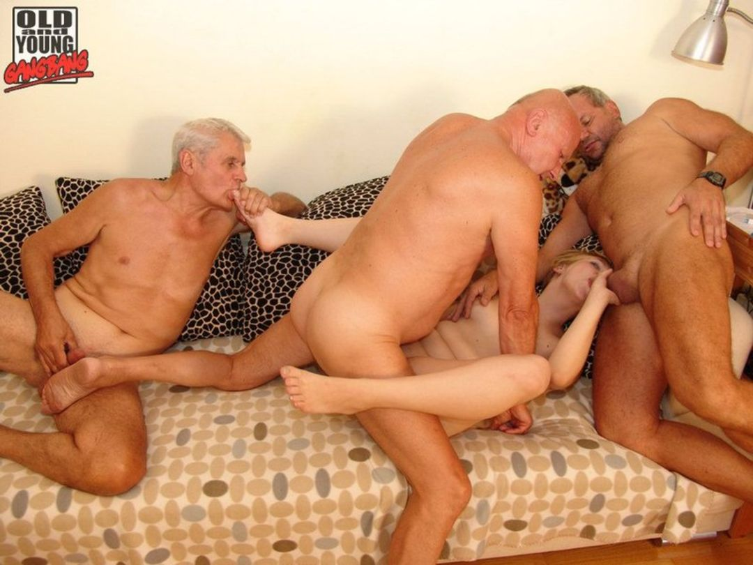and young gangbang Old