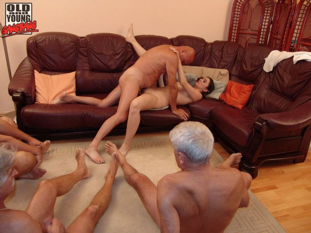 gangbang Old guys sex getting